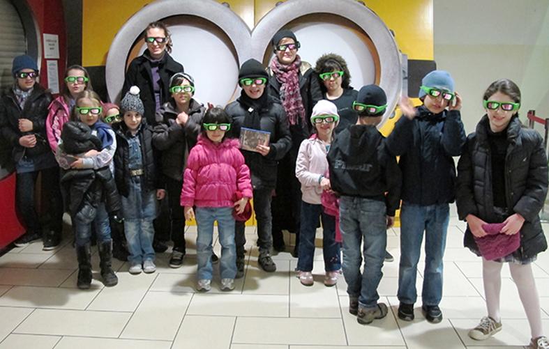 Kinobesuch, Kinderflüchtlingsprojekt LIMDA, Foto: © Tina Handl