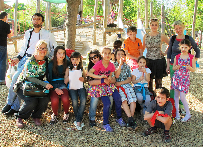 Ausflug mit American International School, Kinderflüchtlingsprojekt LIMDA, Foto: © Tina Handl