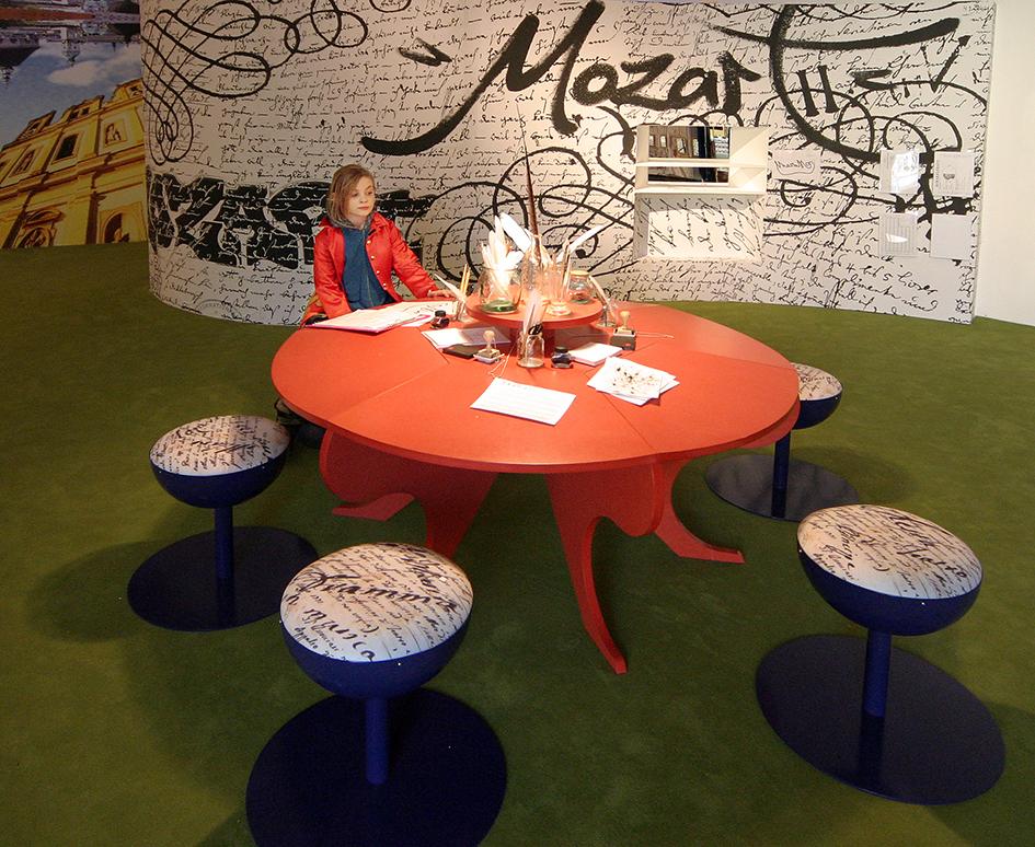 Schreibstation & Textilobjekte, Ausstellung