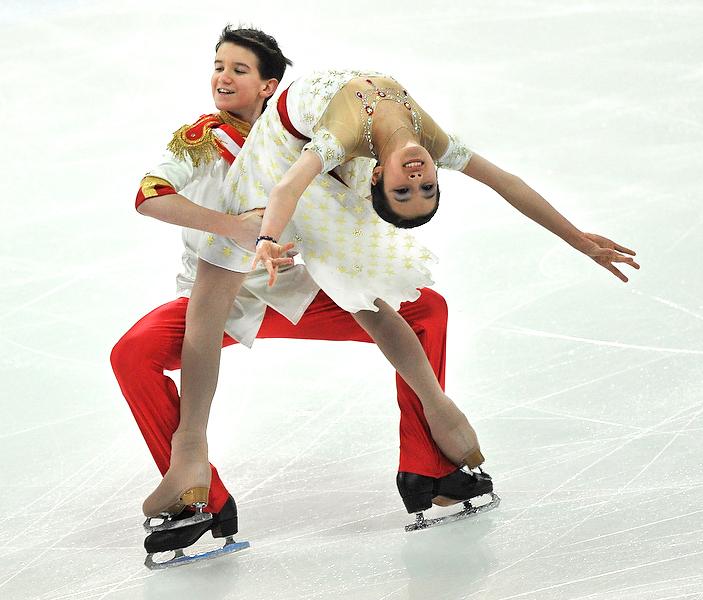Franz und Sissi, Eislaufkostüme für österreichisches Juniorenmeister-Eistanzpaar, Foto: © Eisenbauer